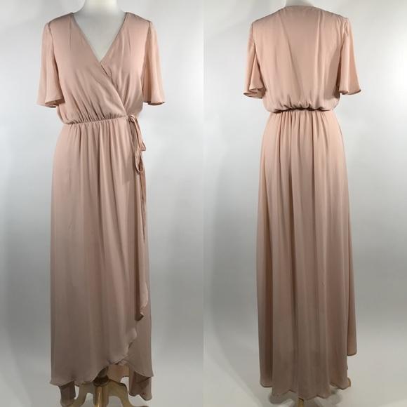 5241e43dea ... Sophia Wrap Dress Dusty Blush. M 5b1ae259f63eea1a6bebd120